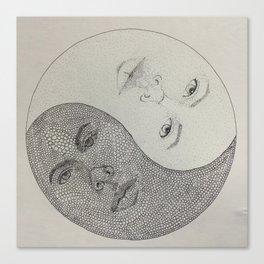 Twin-Yang Canvas Print