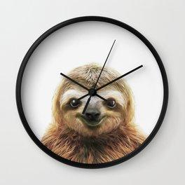 Young Sloth Wall Clock