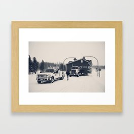 Tight Squeeze Framed Art Print
