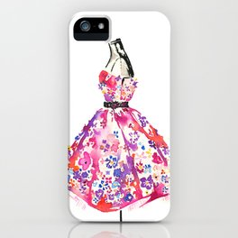 Floral Dress iPhone Case