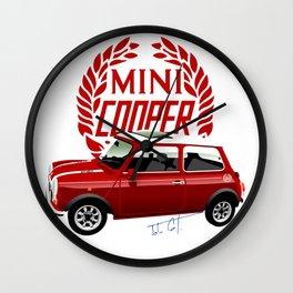 Classic Mini Cooper Wall Clock