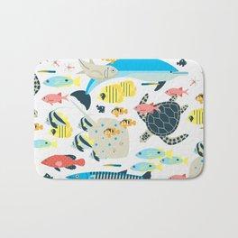Coral reef animals Bath Mat