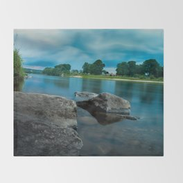 River Landscape Photography - The Banks of the Tay, Scotland Throw Blanket