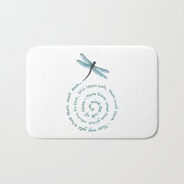 Witches rule of Three and dragonfly Bath Mat