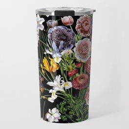 Vintage & Shabby Chic - Lush baroque flower pattern Travel Mug
