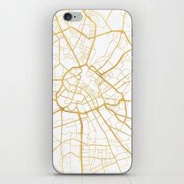 MANCHESTER ENGLAND CITY STREET MAP ART iPhone Skin