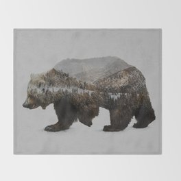 The Kodiak Brown Bear Throw Blanket