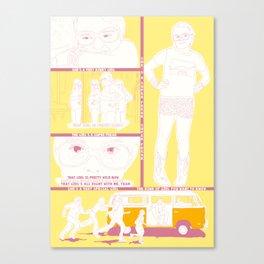 PEQUEÑA MISS SUNSHINE Canvas Print