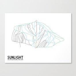 Sunlight Mountain Resort, CO - Minimalist Winter Trail Art Canvas Print