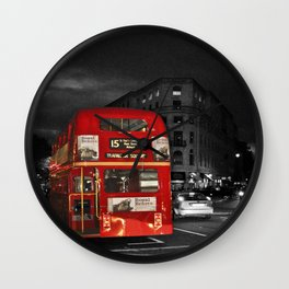 Red Routemaster London Bus Wall Clock