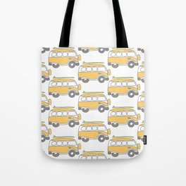 The Surf Life   Yellow Adventure Bus Tote Bag