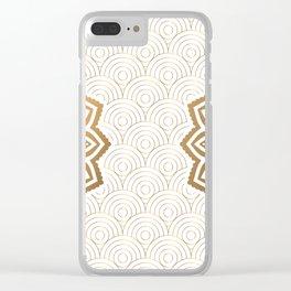 Gold Mandala 13 Clear iPhone Case