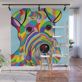 Wire Fox Terrier Wall Mural