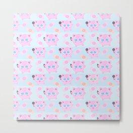 Jigglypuff pattern Metal Print