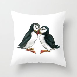 I Puffin Love You Throw Pillow
