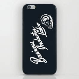 Business Industry Labor in White with Gears iPhone Skin