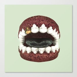 Death Kiss... Skull Mouth... Dental with Something Badass? Canvas Print