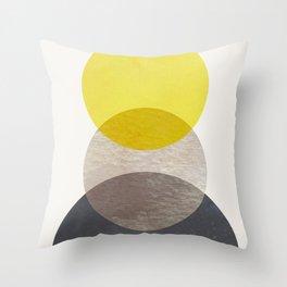 SUN MOON EARTH Throw Pillow