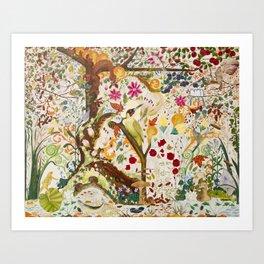 Fantasy Jacobean Forest Art Print