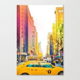 Colors of New York City Downtown Manhattan Canvas Print