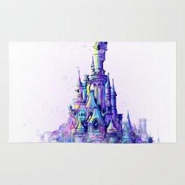 Disneyland Paris Watercolour Castle Rug