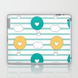 cute lovely cartoon hot air balloons pattern illustration Laptop & iPad Skin