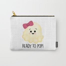 Ready To Pop - Popcorn Pink Bow Carry-All Pouch