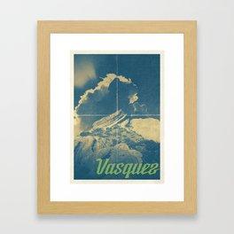 Vasquez Rocks - Travel Poster Framed Art Print