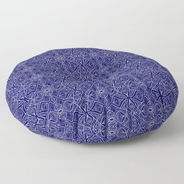 Dark Intricacy Persian Rug Magic Carpet Midnight Blue Indian Pattern Spirit Organic Floor Pillow