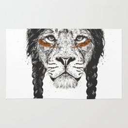 Warrior lion Rug