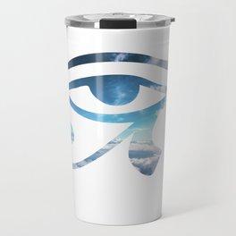 Eye of Horus Sky Background Travel Mug
