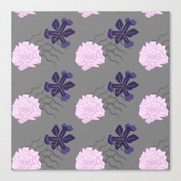Blooms Between Lines Canvas Print