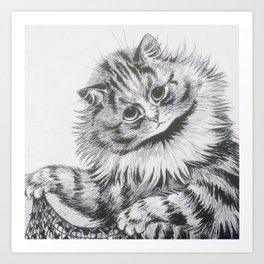 Louis Wain - Cat Portrait Art Print