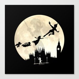 Peter Pan FullMoon Over London Canvas Print