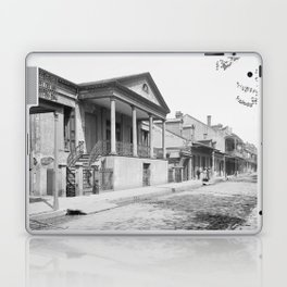Chartres Street, Vieux Carre, New Orleans, Louisiana 1906 Laptop & iPad Skin
