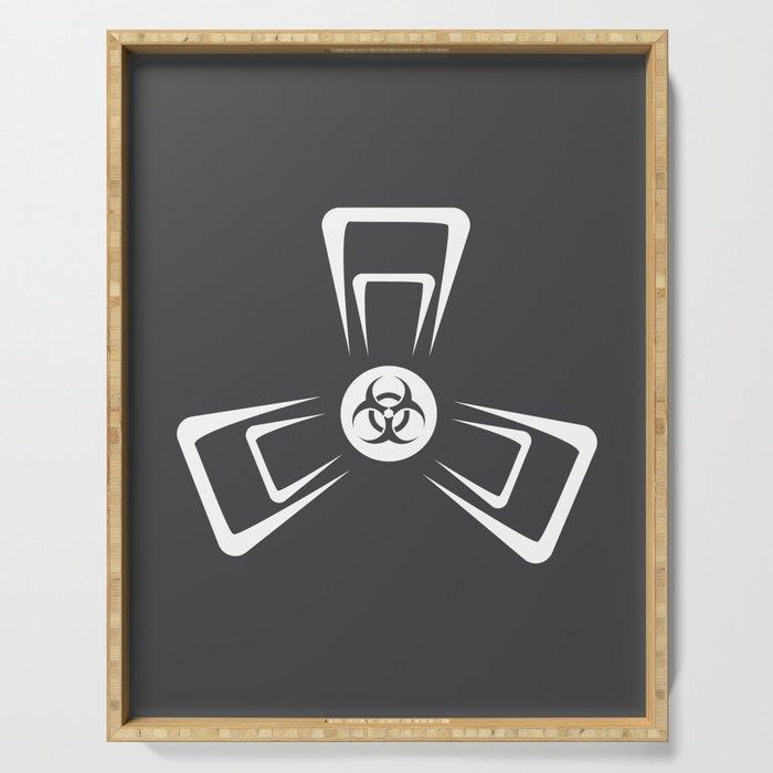 Biohazard Biohazard Biohazard Virus Disease Gift Serving Tray