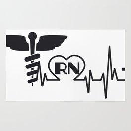 Heartbeat Nurse RN Gift Rug