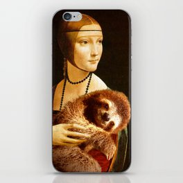 Lady With A Sloth iPhone Skin