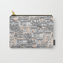 Paris toile sugar pink Carry-All Pouch