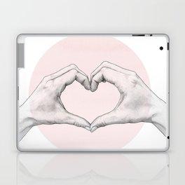 heart in hands // hand study Laptop & iPad Skin