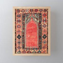 Sivas  Antique Cappadocian Turkish Niche Kilim Print Framed Mini Art Print