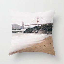 Baker beach Throw Pillow