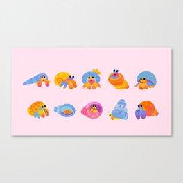 Hermit Crab - pink Canvas Print