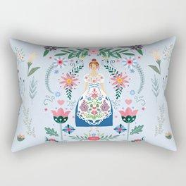 Fairy Tale Folk Art Garden Rectangular Pillow