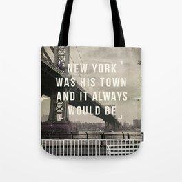 Manhattan movie quote art print Tote Bag