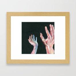 Grasping Darkness Framed Art Print