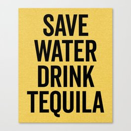 Drink Tequila Funny Quote Canvas Print