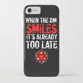 When the Dungeon Master smiles... iPhone Case