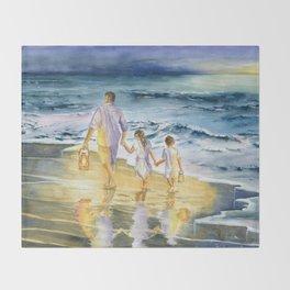 Summer Vacation Memory Throw Blanket