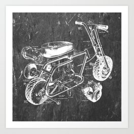 Mini Bike Art Print